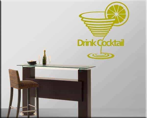 adesivi da parete drink cocktail bar