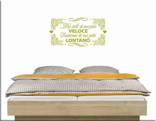 Adesivi da parete frase letto - Adesivi parete camera da letto ...