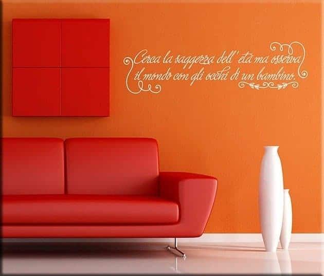 adesivi da parete frase saggezza