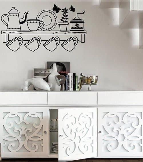 adesivi da parete mensola cucina