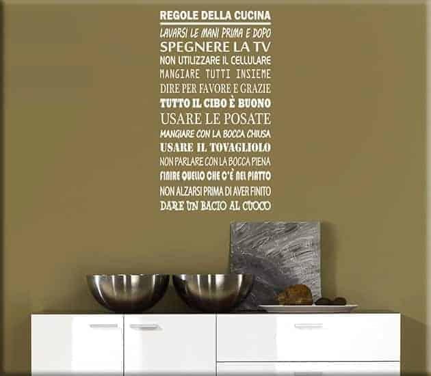 WALL STICKERS REGOLE DELLA CUCINA WS1191