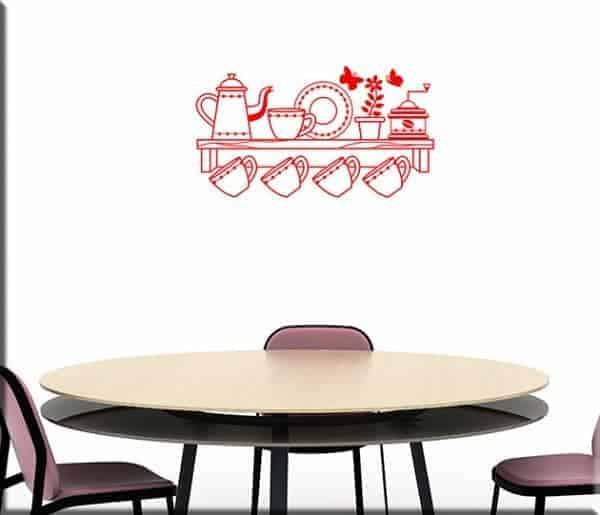 Adesivi murali mensola cucina - Adesivi da parete per cucina ...