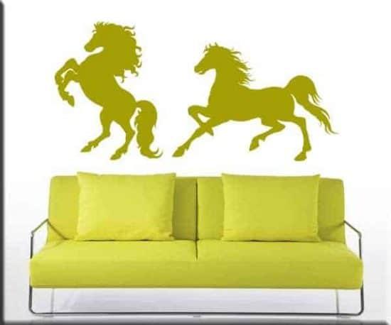 adesivi murali cavalli