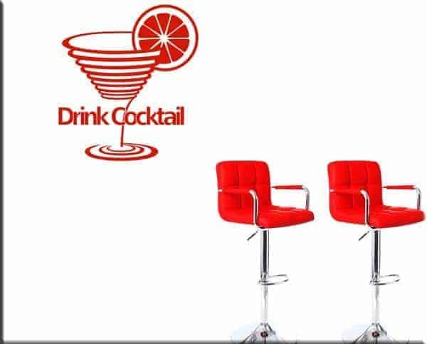 adesivi murali drink cocktail bar