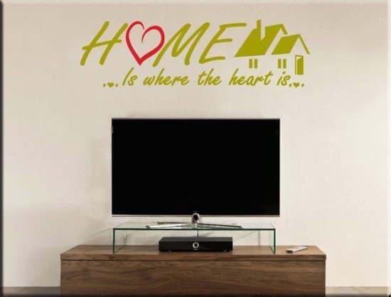 adesivi murali frase home casa