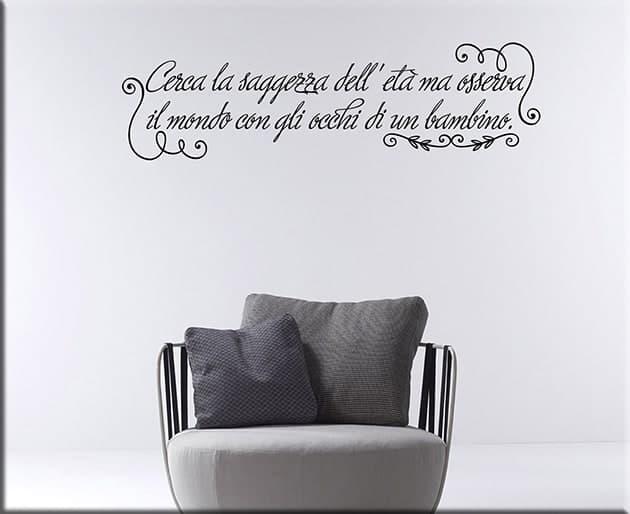 adesivi murali frase saggezza