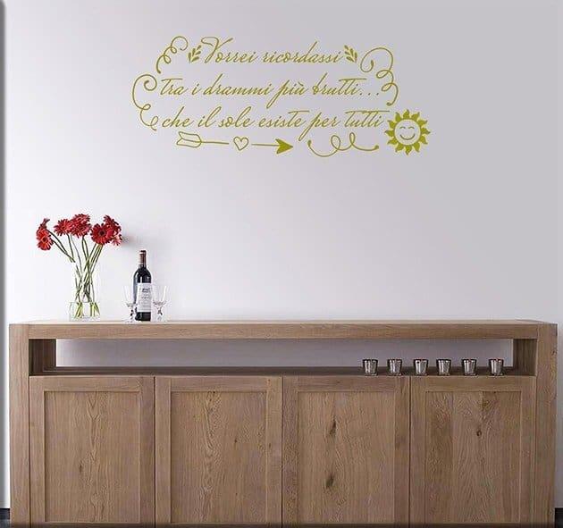 adesivi murali frase sole