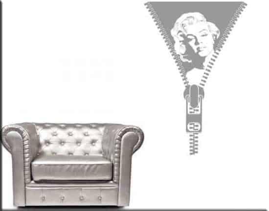 adesivo da parete Marilyn Monroe