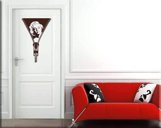 adesivo murale porta marilyn monroe
