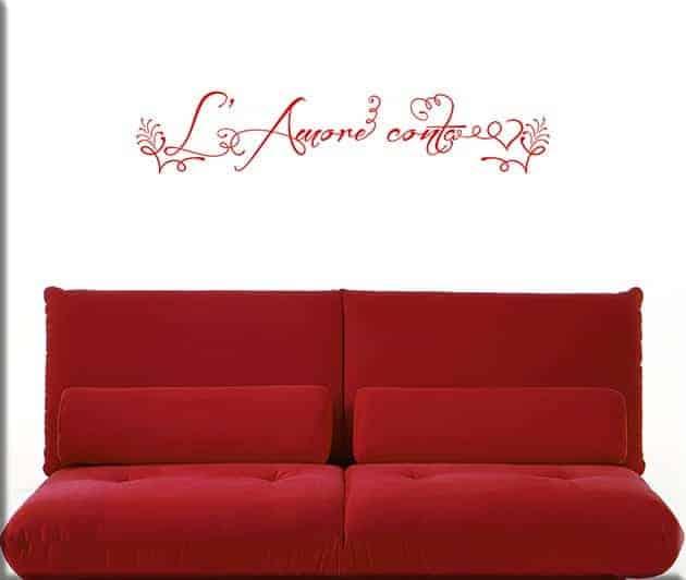 decorazione adesiva murale l'amore conta