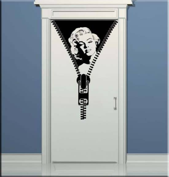 decorazione adesiva porta Marilyn Monroe