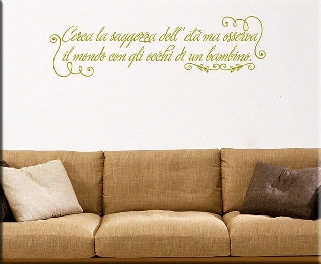 decorazioni adesive murali frase saggezza