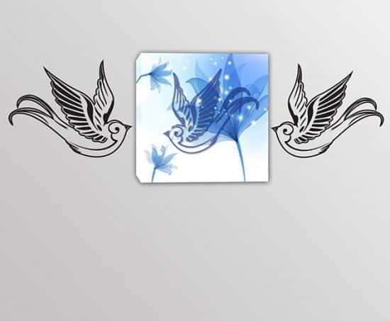 quadro moderno adesivi murali due uccelli