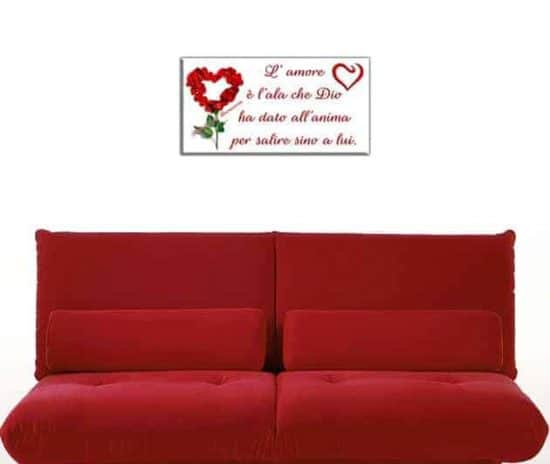quadro moderno frase amore Buonarroti