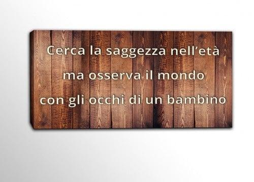 quadro moderno legno frase saggezza