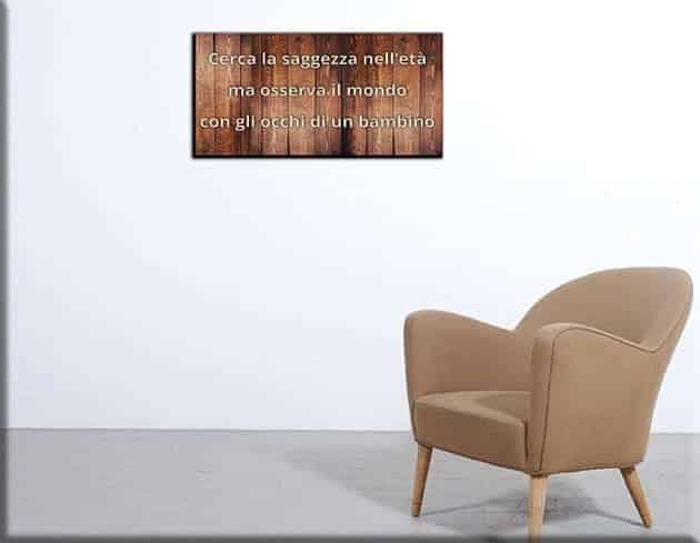 quadro moderno legno frase