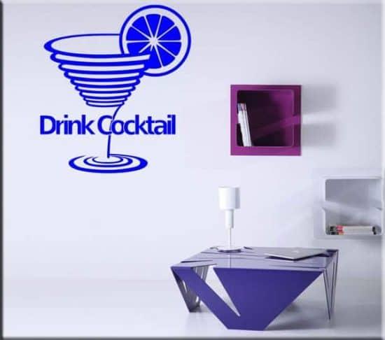 tattoo murali drink cocktail bar
