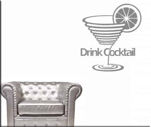 wall stickers drink cocktail bar