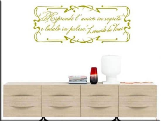 wall stickers frase Leonardo da Vinci
