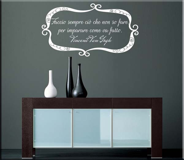 wall stickers frase Van Gogh