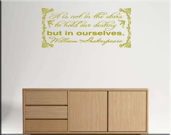 wall stickers frase William Shakespeare