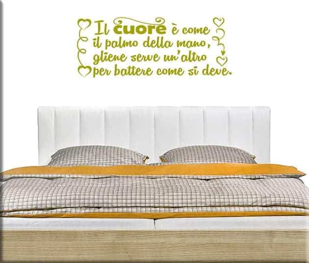 wall stickers frase amore cuore