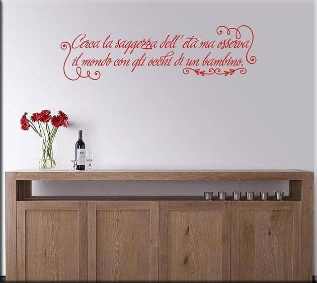 wall stickers frase saggezza