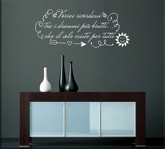 wall stickers frase sole