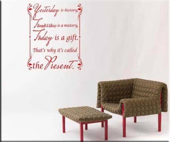 wall stickers frase today present