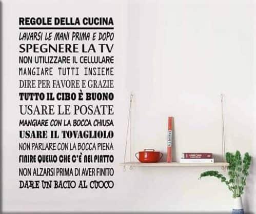 wall stickers regole della cucina