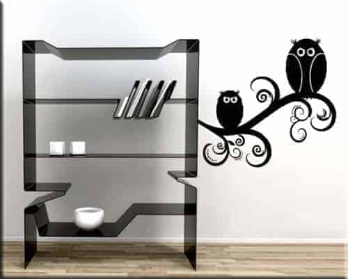 wall stickers tattoo murale gufi