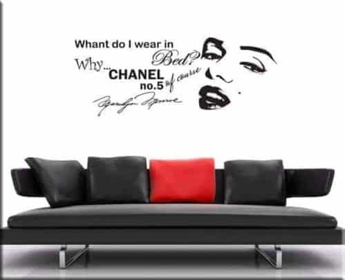 Adesivi da parete frase Marilyn Monroe