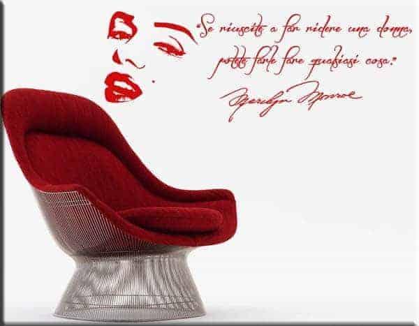 Adesivi murali frase Marilyn Monroe
