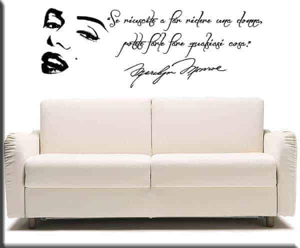 Decorazioni adesive murali frase Marilyn Monroe