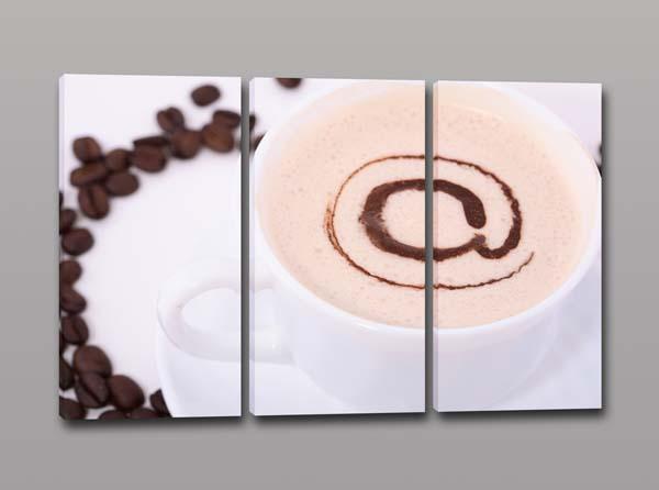Quadri moderni chiocciola caffè bar