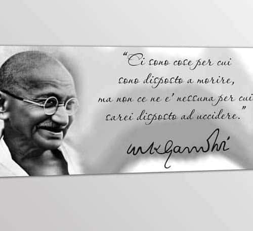 Quadro stampa tela frase Gandhi