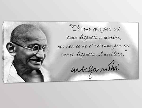 Quadro Stampa Tela Frase Gandhi Quadri Con Frasi Arredi Murali