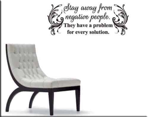 Wall stickers frase stay away