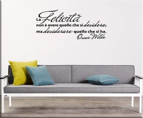 adesivi da parete citazione Oscar Wilde