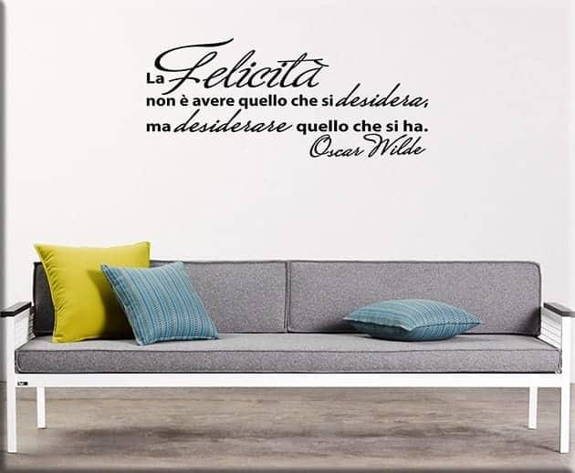 Adesivi da parete citazione oscar wilde - Adesivi da parete camera da letto ...