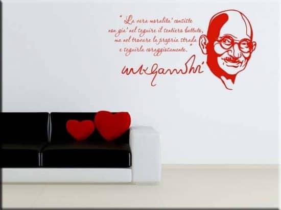 adesivi da parete frase Mahatma Gandhi