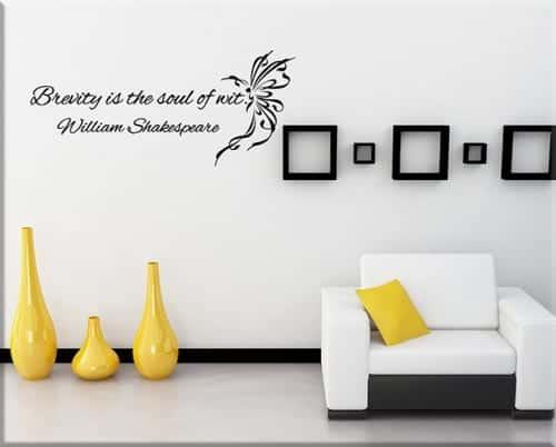 adesivi da parete frase William Shakespeare