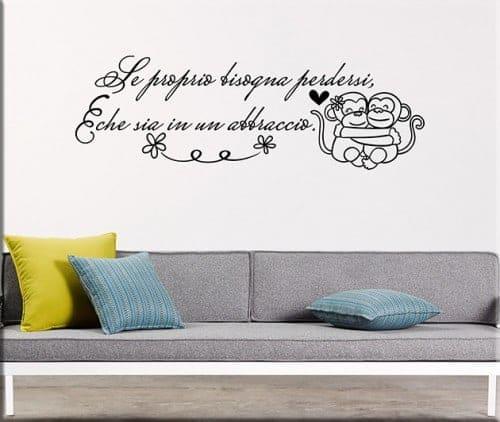 adesivi da parete frase abbraccio