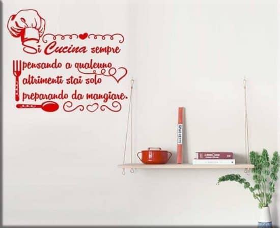 adesivi da parete frase cucina
