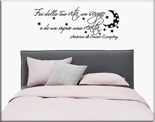 Decorazioni adesive murali frase letto - Decorazioni camera da letto ...