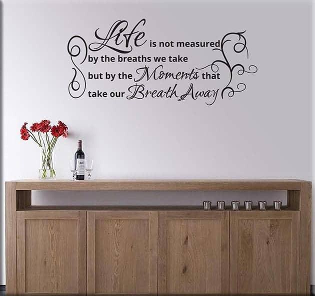 adesivi da parete frase life