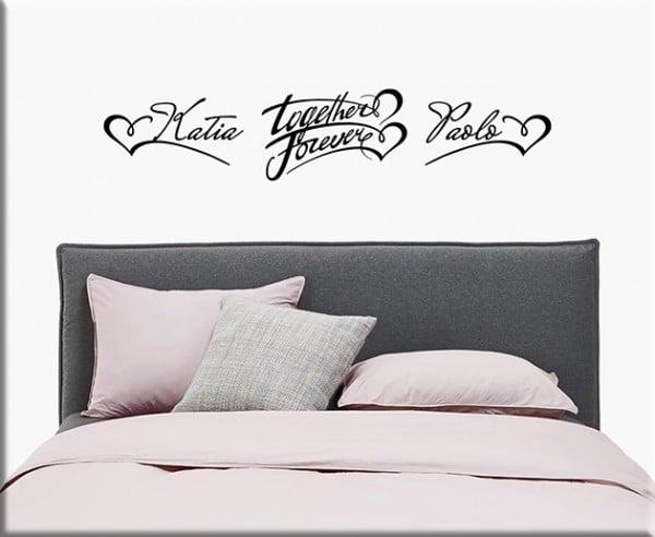 Adesivi da parete personalizzati camera da letto - Stickers testata letto ...