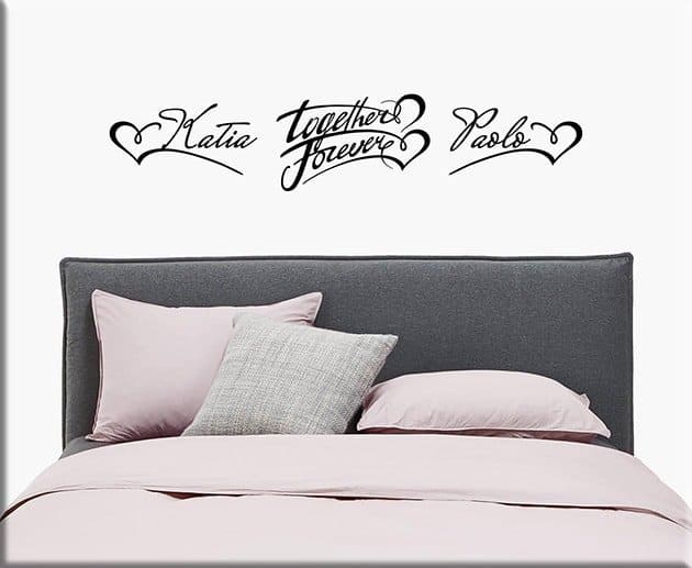 Wall stickers personalizzati per camera da letto - Stickers per camera da letto ...