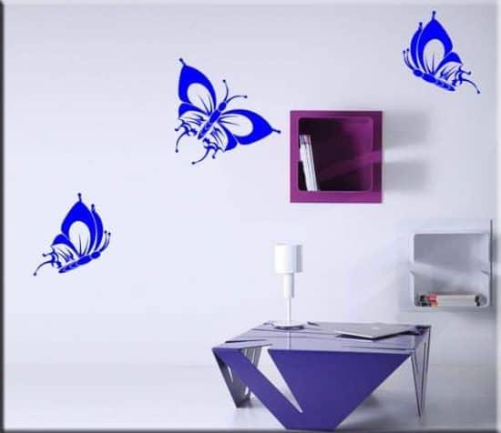 adesivi da parete tre farfalle