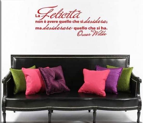 adesivi murali citazione Oscar Wilde